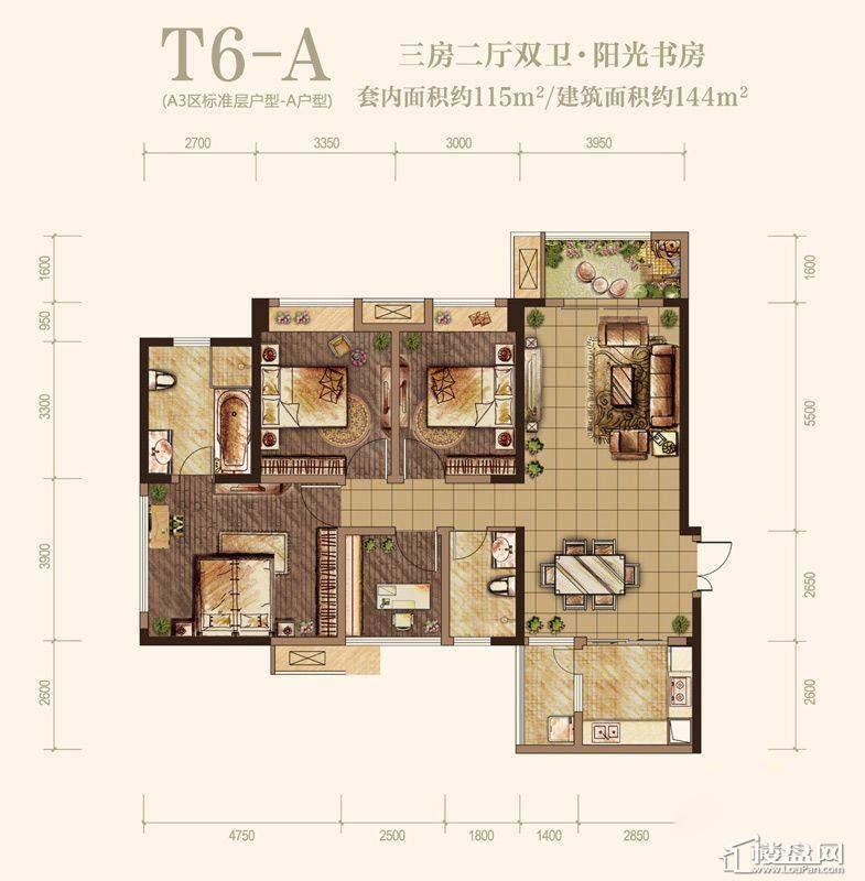 T6-A户型图