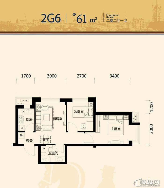 唐轩·公馆高层户型单页-052室2厅1卫