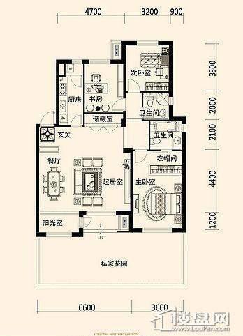 唐轩·公馆洋房户型折页-D1-3-013室2厅2卫