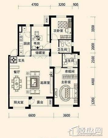 唐轩·公馆洋房户型折页-D1-2-013室2厅2卫