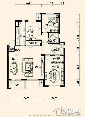 唐轩·公馆洋房户型折页-D1-1-013室2厅