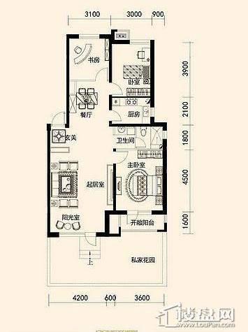 唐轩·公馆洋房户型折页-D2-1-013室2厅1卫