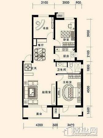 唐轩·公馆洋房户型折页-D2-2-013室2厅1卫