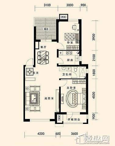 唐轩·公馆洋房户型折页-D2-4-013室2厅1卫