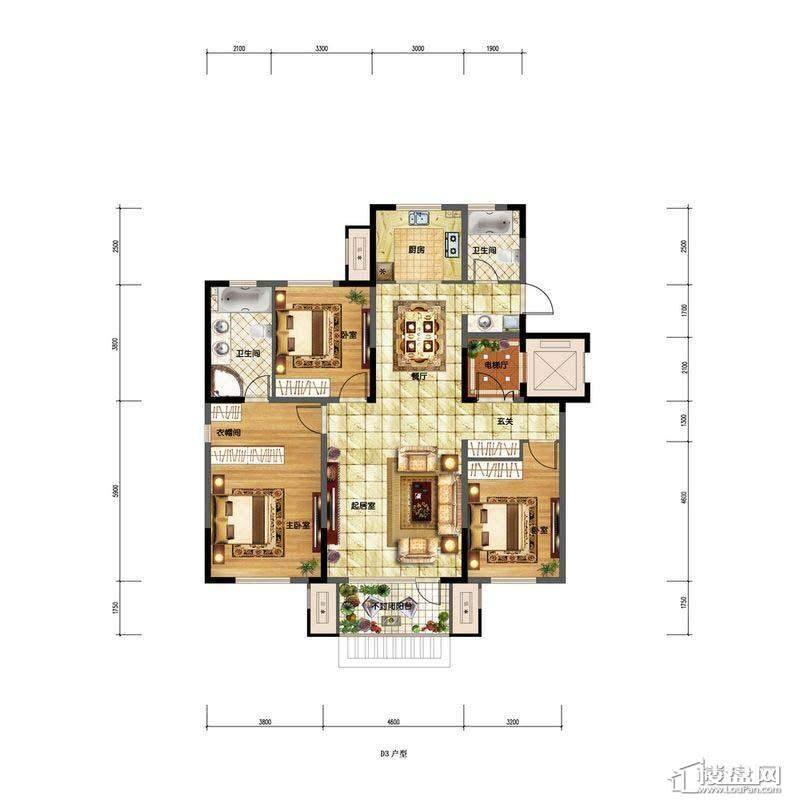 金地檀溪洋房D3.(07.03)3室2厅2卫1厨