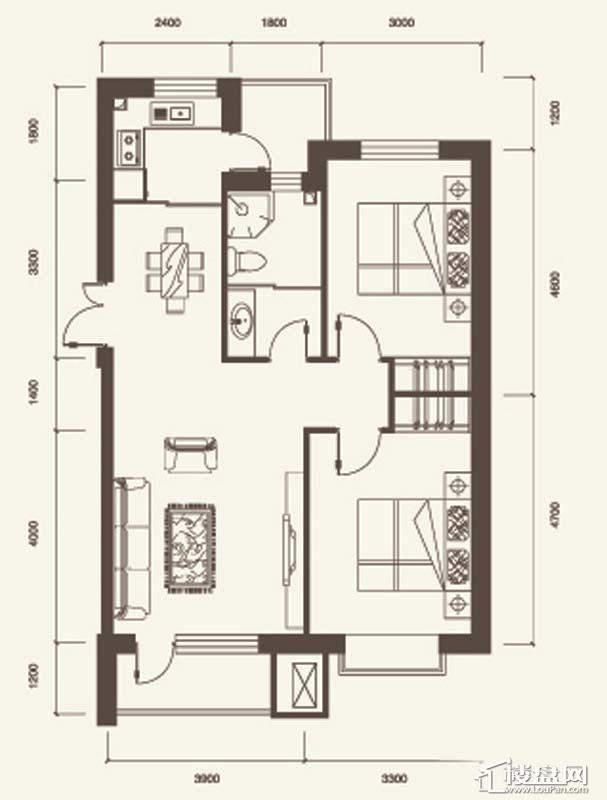 B户型3室2厅1卫