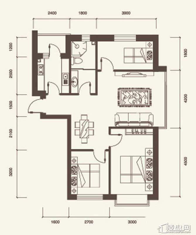 A户型3室2厅1卫