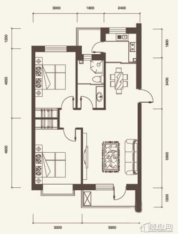 N户型2室2厅1卫