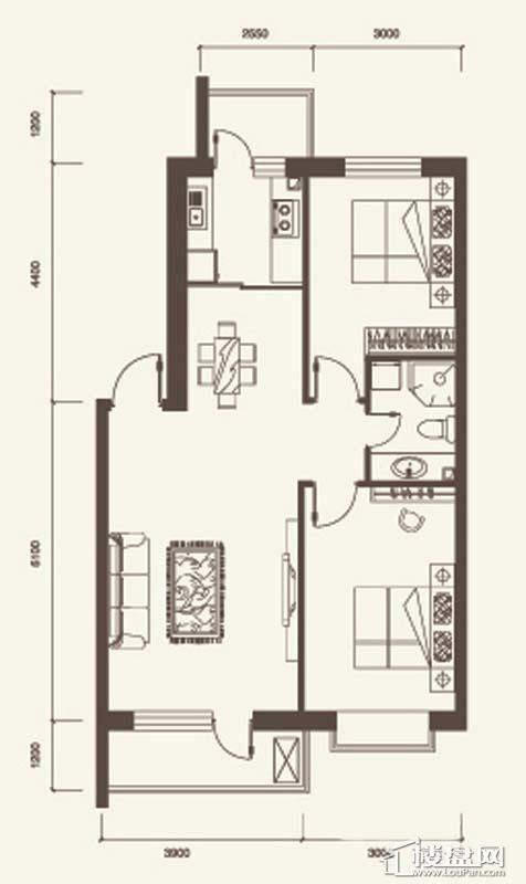 M户型3室2厅1卫