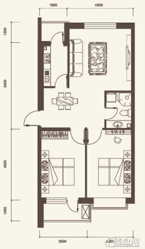 K户型3室2厅2卫