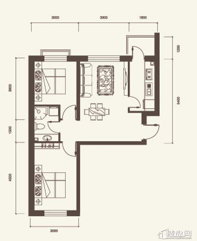L户型3室2厅2卫