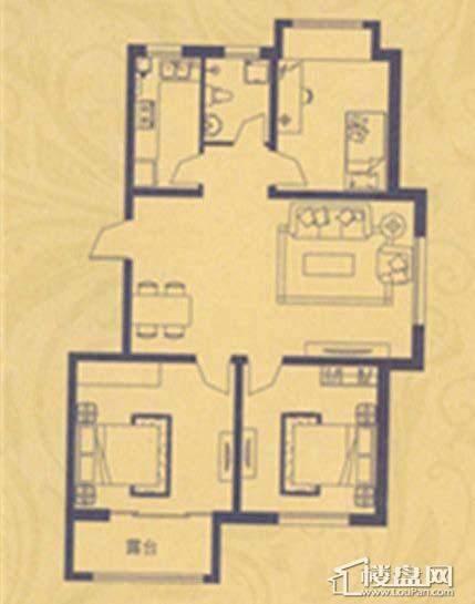 荣盛·紫提东郡A2户型3室2厅1卫