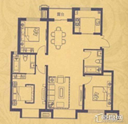 荣盛·紫提东郡A4户型3室2厅2卫