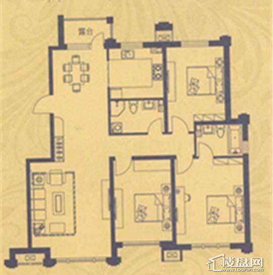 荣盛·紫提东郡A11户型3室2厅2卫