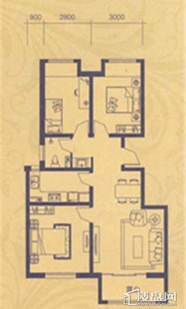 荣盛·紫提东郡B25户型2室2厅1卫
