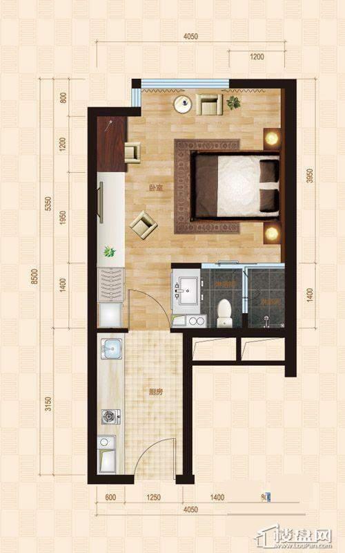 1号楼标准层B1户型