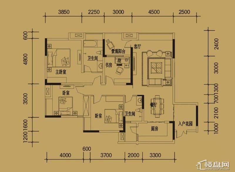 三期4-11号楼标准层A户型