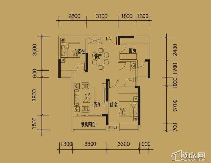 三期4-11号楼标准层C户型