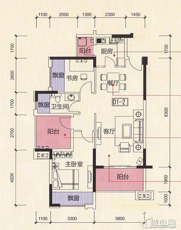 荣和山水绿城户型图