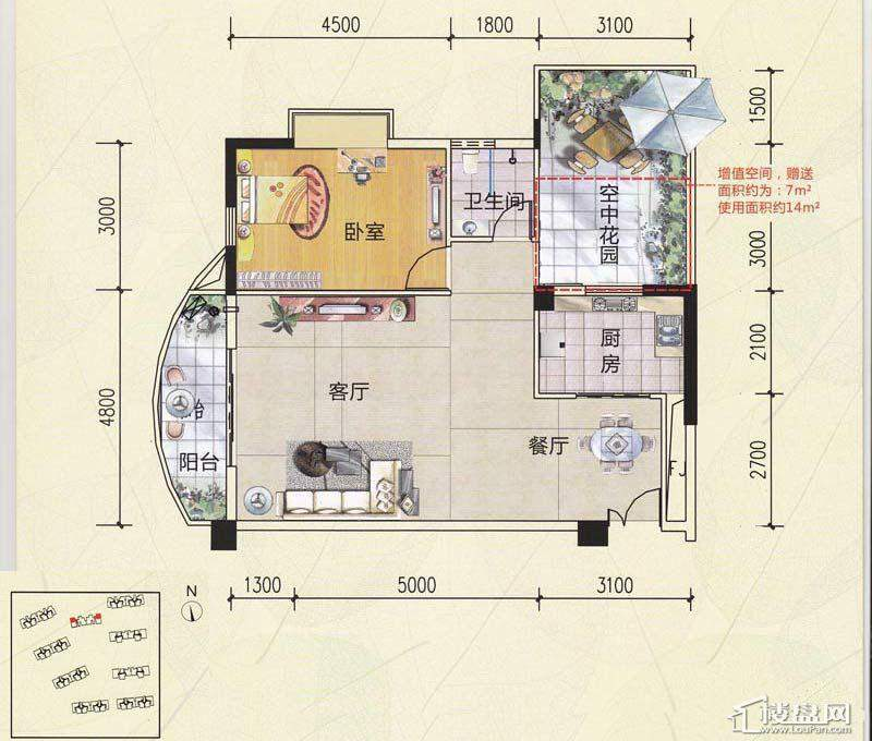 锦秀豪庭户型图89.65