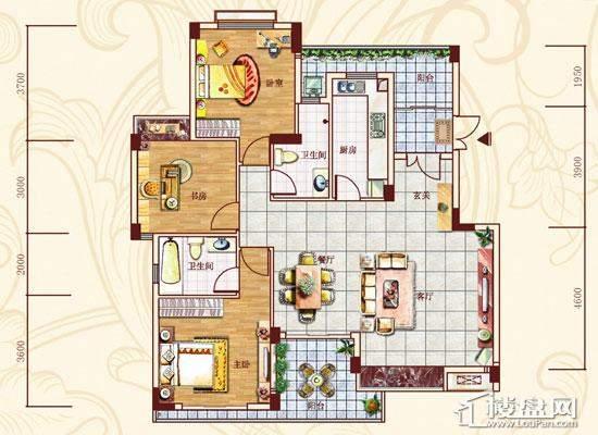 金菲豪园户型图130