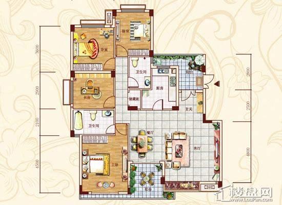 金菲豪园户型图148