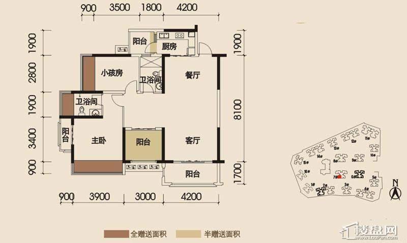 瀚林美筑户型图