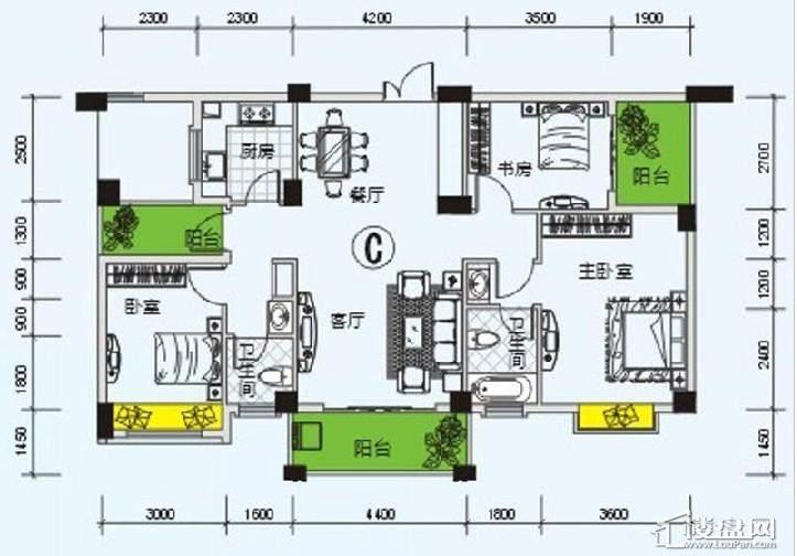 南宁奥园户型图121.7