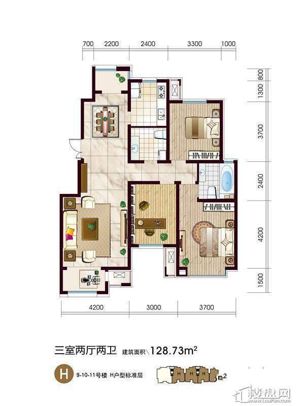 9-10-11号楼H户型
