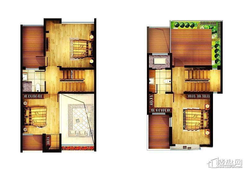 逸景盛熙城A1户型图4室3厅4卫