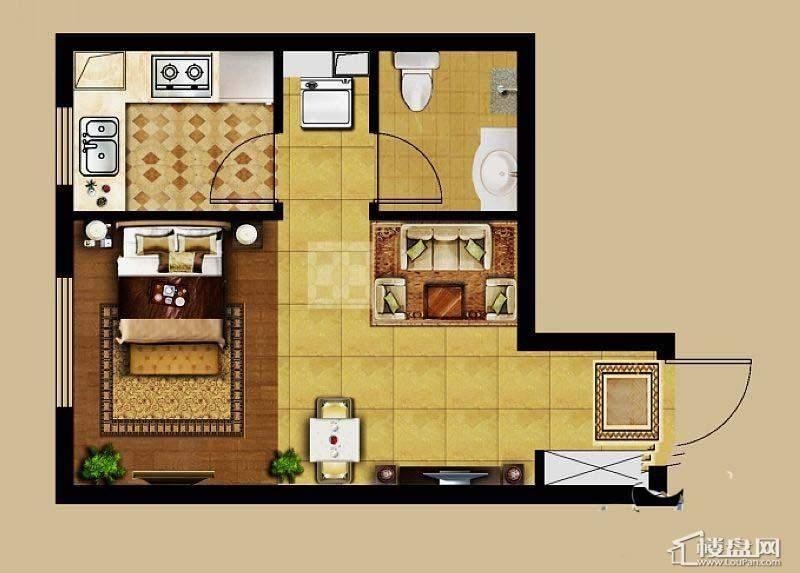 龙湖·源著户型图 11室1厅1卫