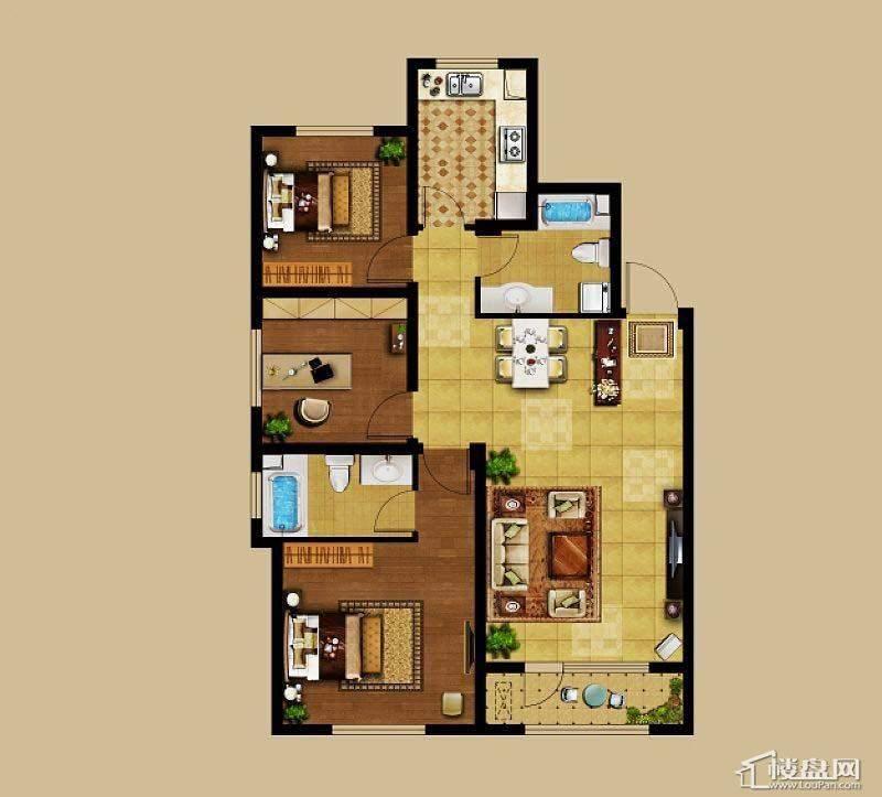龙湖·源著户型图62室2厅1卫