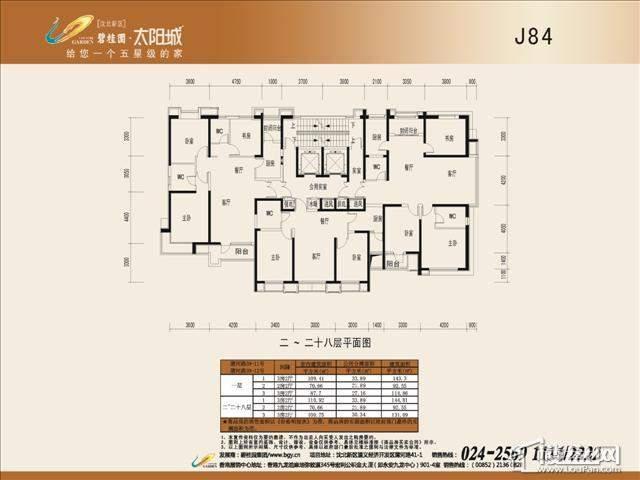 碧桂园太阳城户型图