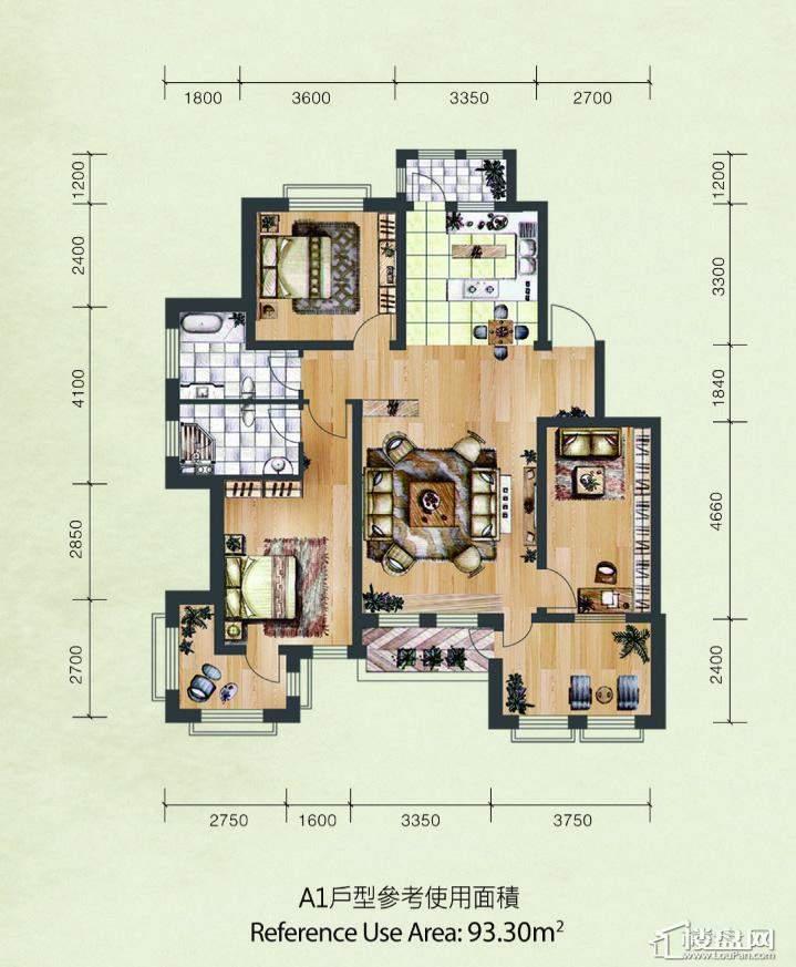 A1户型参考使用面积