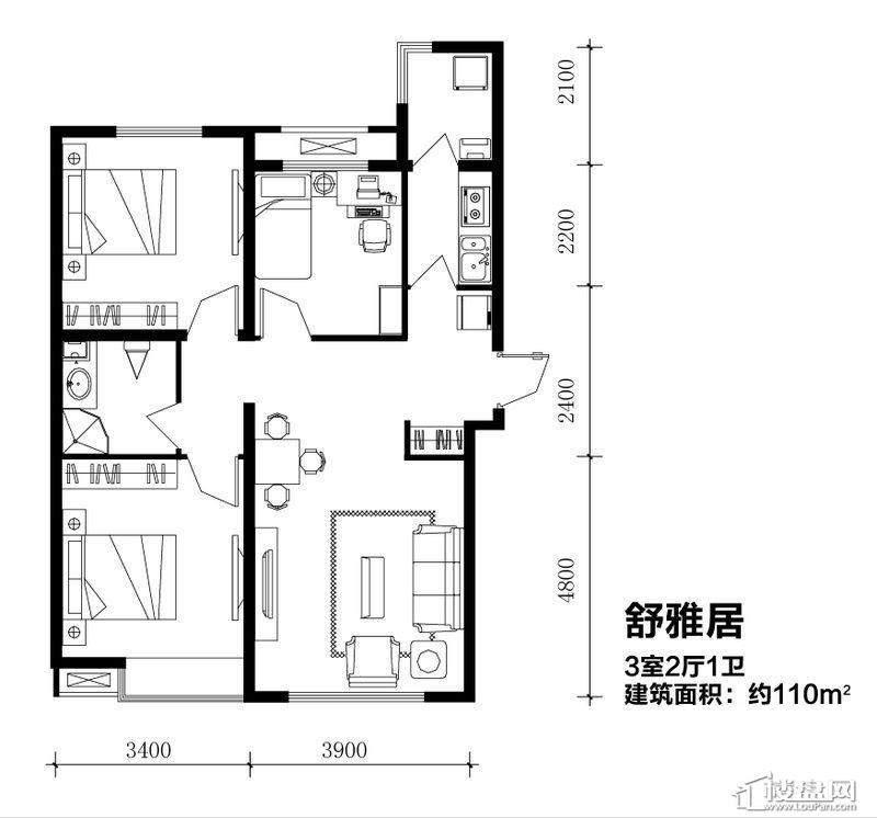 5号楼标准层跃层户型1室1厅2卫1厨 .jpg