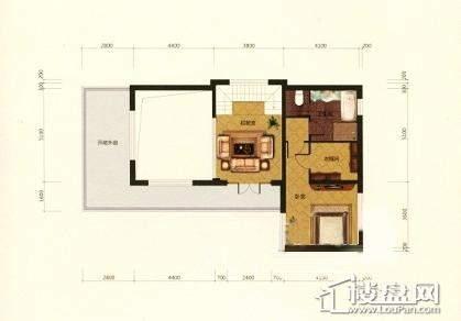 湖与墅B户型二层2室1厅1卫