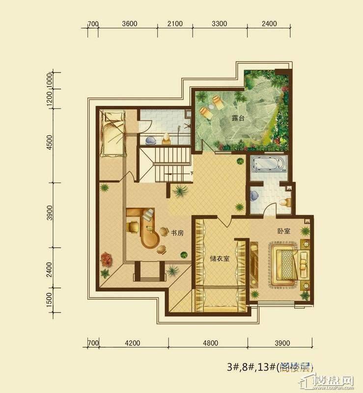 辰能溪树河谷B户型9层阁楼2室1厅2卫