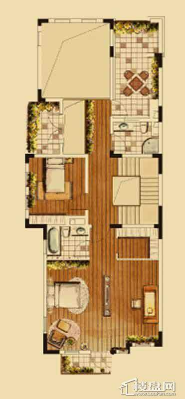 汇置尚都联排TH1二层5室2厅4卫
