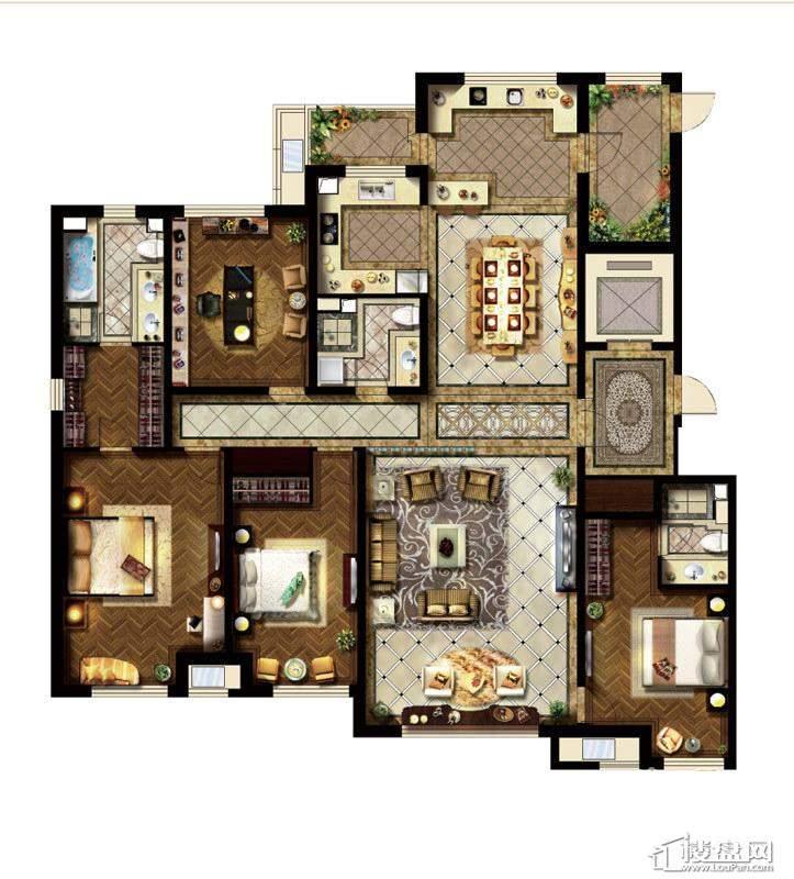 B户型4室2厅2卫2厨