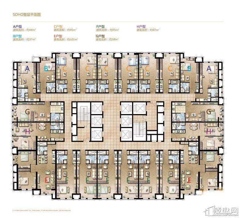 哈尔滨星光耀广场LOFT 户型1室