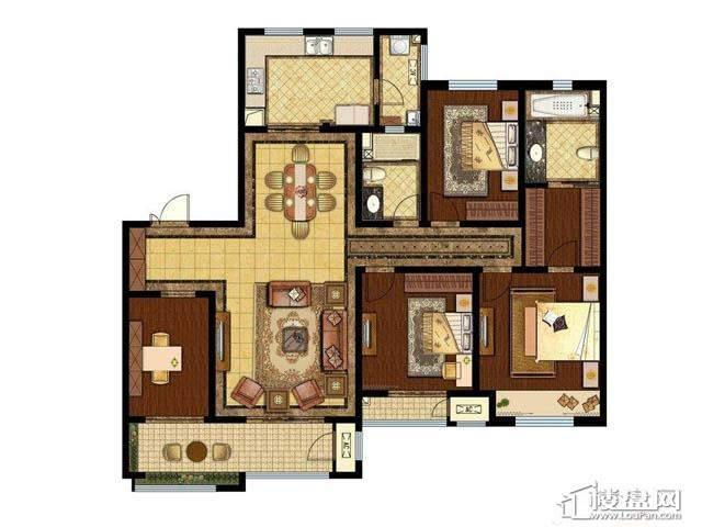 1-4#户型4室2厅2卫