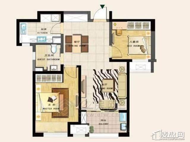 2室 户型图2室2厅1卫1厨