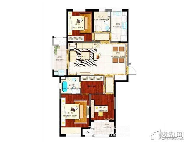 1号楼 3室2厅1厨2卫