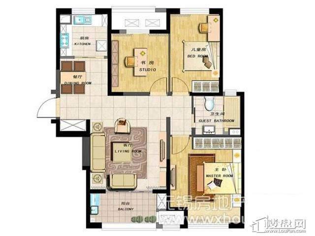 13号楼 3室2厅1厨1卫