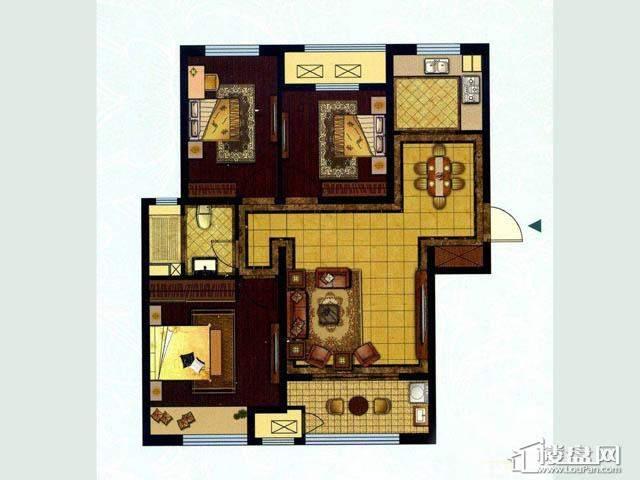 二期A户型3室2厅1卫1厨