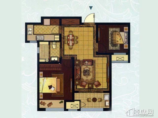 C户型2室2厅1卫1厨
