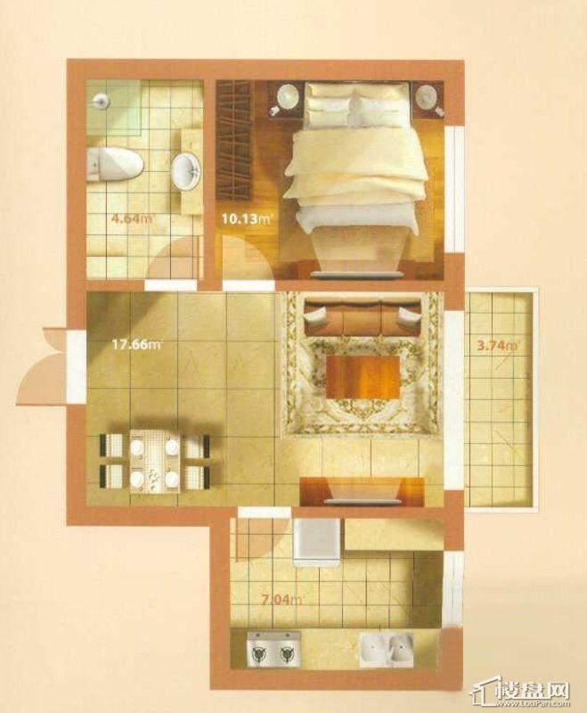 J户型1室1厅1卫1厨