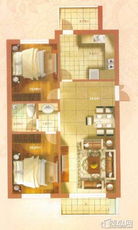 N户型2室2厅1卫1厨