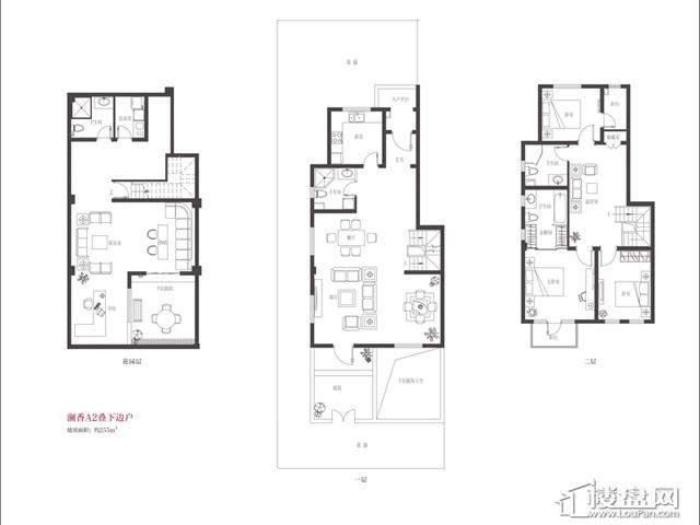 A2户型3室3厅4卫 255.00㎡