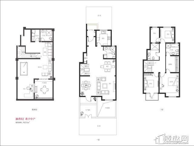 B2户型4室2厅4卫 255.00㎡